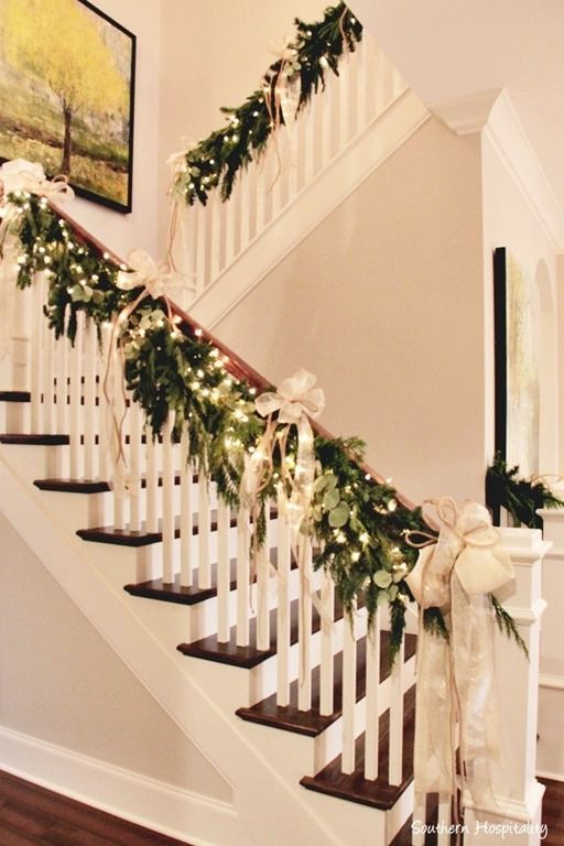 holiday cleaning in brooklyn - Christmas Decorations Staircase Hand Railing